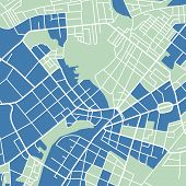 picture of cartographer  - Editable vector street map of town - JPG