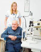 pic of ophthalmology  - Senior man with Alzheimer - JPG