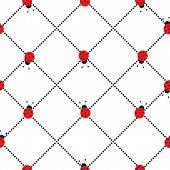 foto of ladybug  - seamless pattern with ladybugs and black dots - JPG
