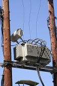 picture of transformer  - Old electric power transformer - JPG