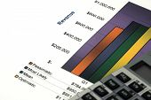 Close Up Of Business Report And Calculator