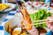 stock photo of squid  - Thai local food - JPG