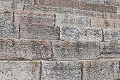 stock photo of arena  - detail of the ancient limestone steps of Roman Arena di Verona in Italy - JPG