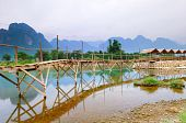 Bridge To Riverside Guesthouse vang vieng, Laos