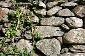 Rock Fence Background
