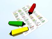 picture of marker pen  - Yellow - JPG