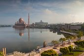 pic of malaysia  - Putra Mosque located in Putrajaya city the new Federal Territory of Malaysia - JPG