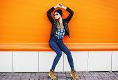 stock photo of rocking  - Street fashion concept  - JPG