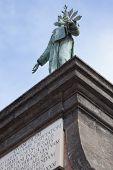 stock photo of alighieri  - Marble sculpture in piazza Dante napoli Italy - JPG