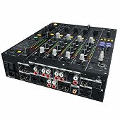 foto of mixer  - Black digital DJ mixer - JPG
