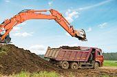 Excavator Loader And Dumper Truck