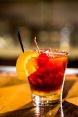foto of sangria  - Bartender making Red Sangria in Italian restaurant - JPG