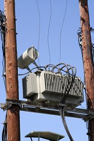 pic of transformer  - Old electric power transformer - JPG