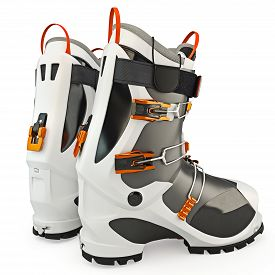 picture of ski boots  - Ski boots modern style - JPG