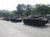 Thai military tanks, Bangkok, Thailand.