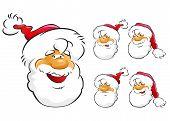 Santas faces