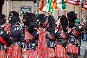 Marching Bagpipe Players