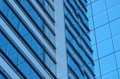 Blue Building Windows