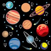 sistema solar de planetas