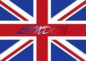 London with UK flag