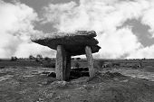 Poulnabrone Dolmen Fenced Off With Tourists poster