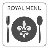 Постер, плакат: Royal Menu Sign