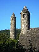 St. Kevin's Church Or Kitchen And Round Tower In Glendalough
