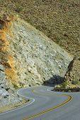 stock photo of anza  - Mountain road to Anza Borrego Desert  - JPG