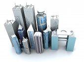 Corporate Buildings vanuit een hoge hoek
