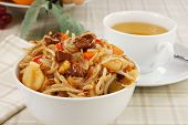 Bowl Of Beef Chow Mein