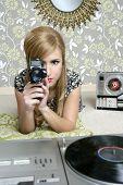 Super 8Mm Camera Retro Woman Vintage Room
