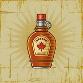 Retro Maple Syrup Bottle