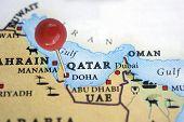Qatar on a map