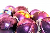 Purple Metallic Christmas Ornaments