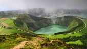 Volcanic Lake Sete Cidades In Sao Miguel Island poster