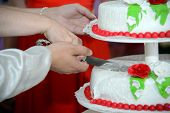 Постер, плакат: Cutting of the cake