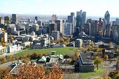 An elevated view ofMontreal from Mont Royal