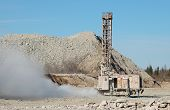 Drilling machine in open pit