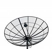 Satellite Dish Black Isolated