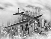 Dc-3 Over City