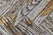 Background Texture Of Old Shabby Wooden Parquet poster