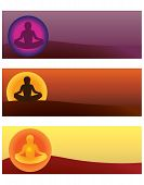 Set Of Yoga Vector Illustrations