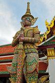 Huge Demon Is Standing At Temple