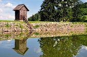 stock photo of banska  - Summer lake Ottergrund in Banska Stiavnica - JPG