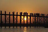 U Bein Brücke, Mandalay, Myanmar