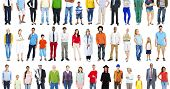 Group Multiethnic Diverse Mixed Occupation People Concept poster