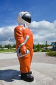 Cosmonaut In An Orange Suit