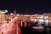 Sydney Darling Harbour At Night, Australia
