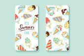 Template Phone Case With Icecream And Text Summer poster