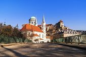 Castle In Hungary. Westerly Cathedral. The Biggest Church In Hungary.view Of An Esztergom Basilica, poster